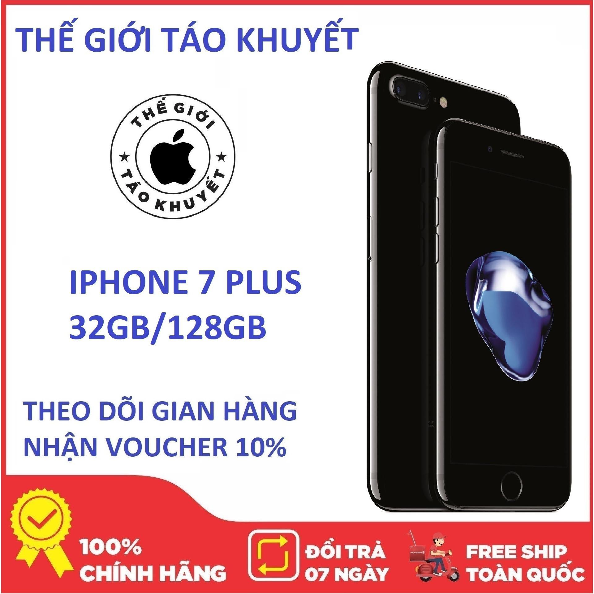 Điện thoại Apple IPHONE 7 PLUS - 128G - RAM 2GB - Bản quốc tế - Bảo hành 12T - Chính Hiệu - Thế Giới Táo Khuyết