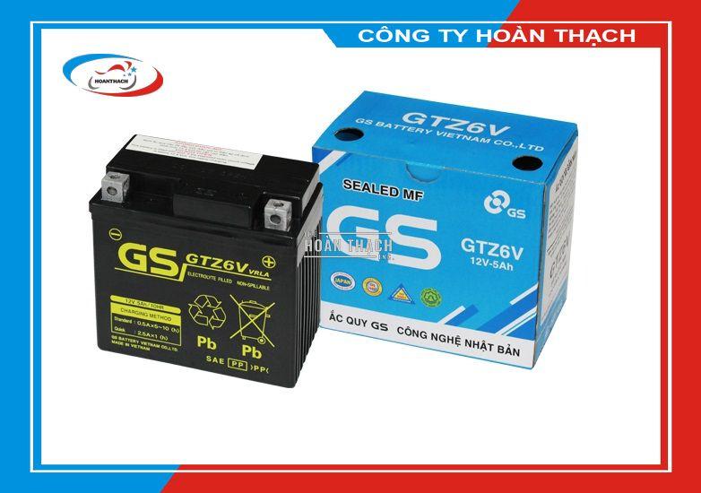 Bình Ắc Quy Khô GS GTZ6V có tuổi thọ cao chất lượng ổn định