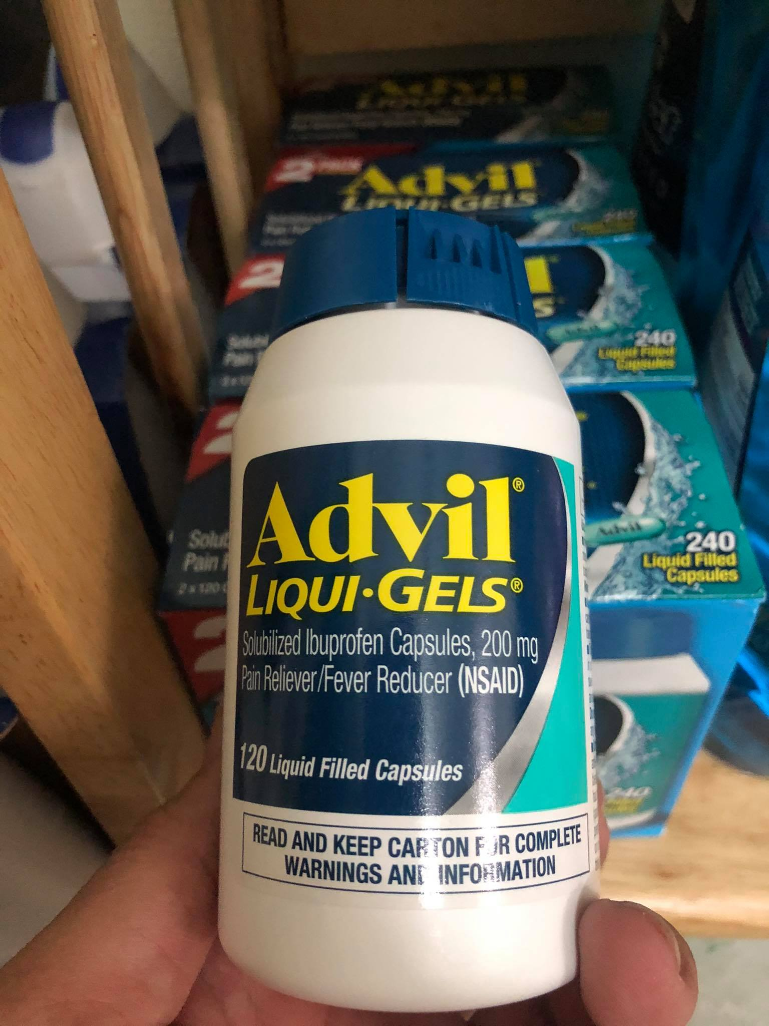 Viên giảm đau sốt Advil Liqui-Gels 200mg 120 viên