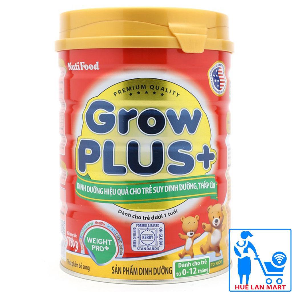 Sữa Bột Nutifood Grow Plus+ Đỏ Hộp 780g (Dinh dưỡng hiệu quả cho trẻ suy dinh dưỡng, thấp còi từ 0~12 tháng tuổi)