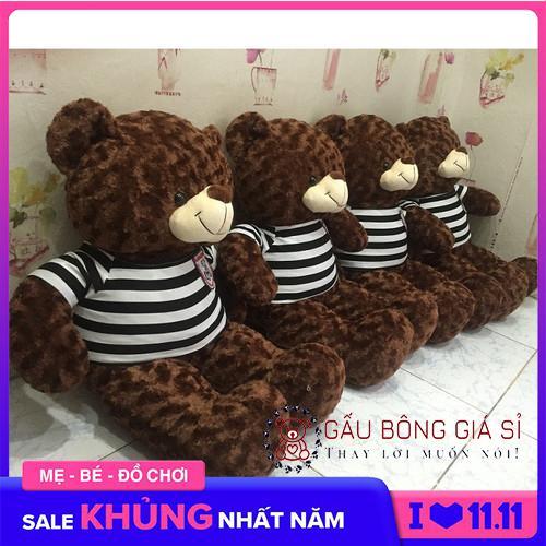 Gấu bông Teddy Cao Cấp khổ vải 1m màu Sôcola chất Iiệu bên trong gấu 100% gòn không độn mút vải