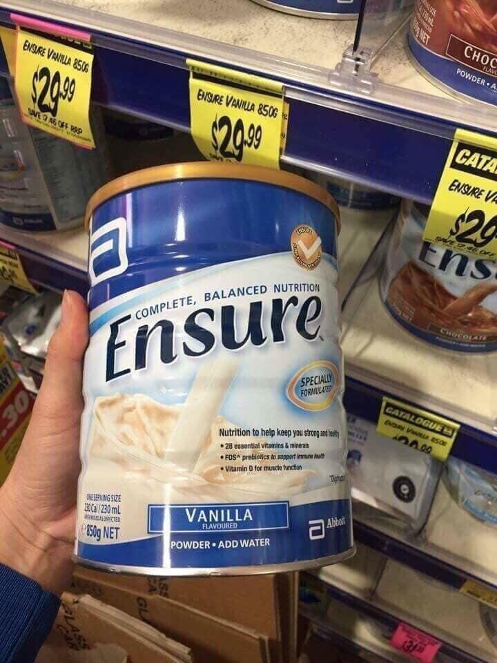 Sữa Ensure Úc Hộp 850Gr - Ensure Úc
