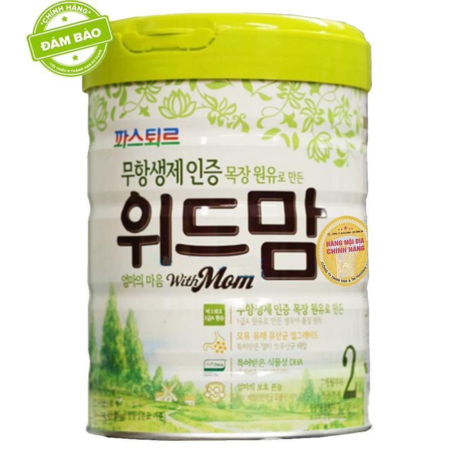 Sữa With Mom số 2 750g Hàn Quốc (6-12 tháng)