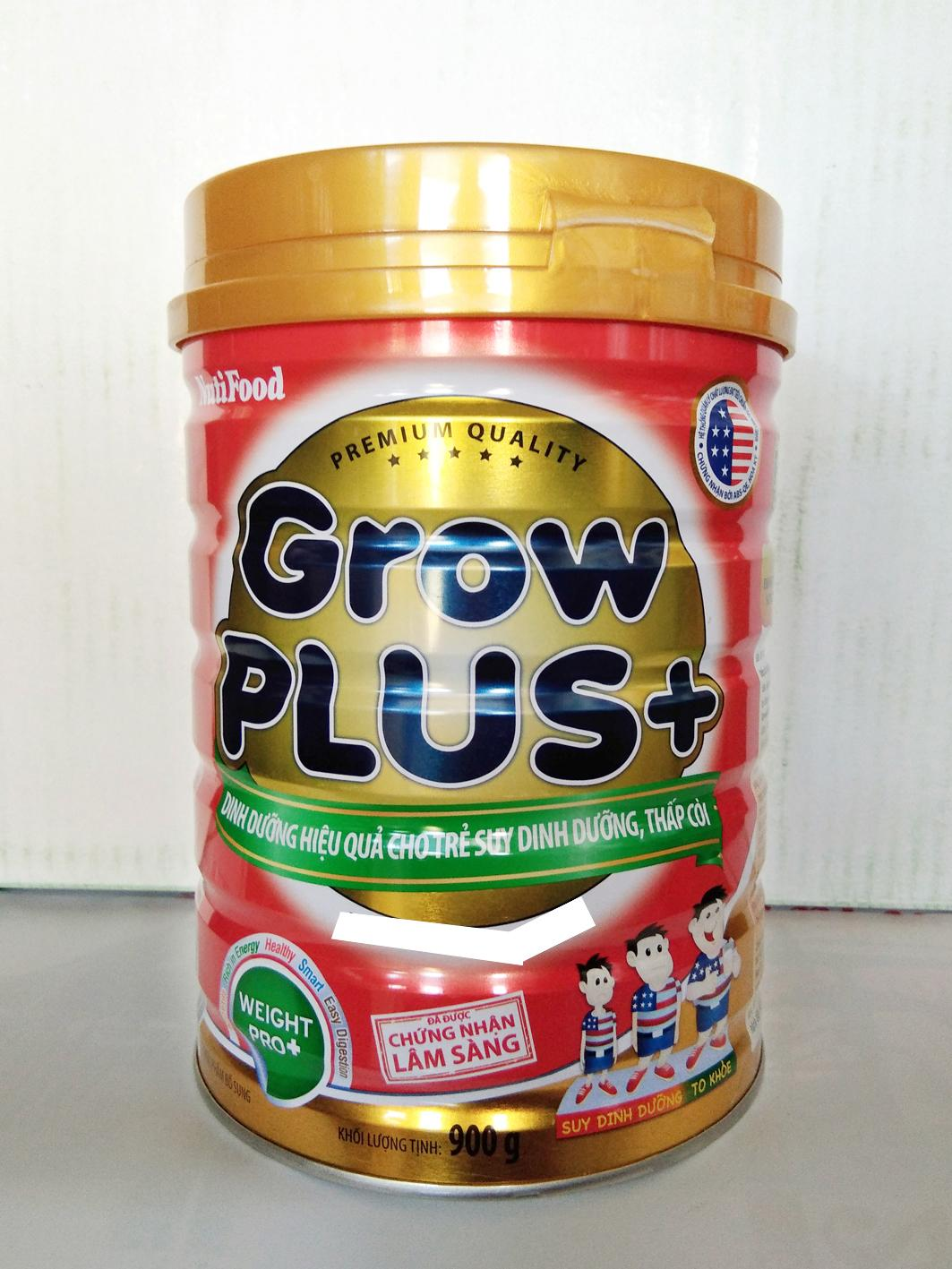 Sữa bột Grow Plus đỏ Nuti Lon 900g