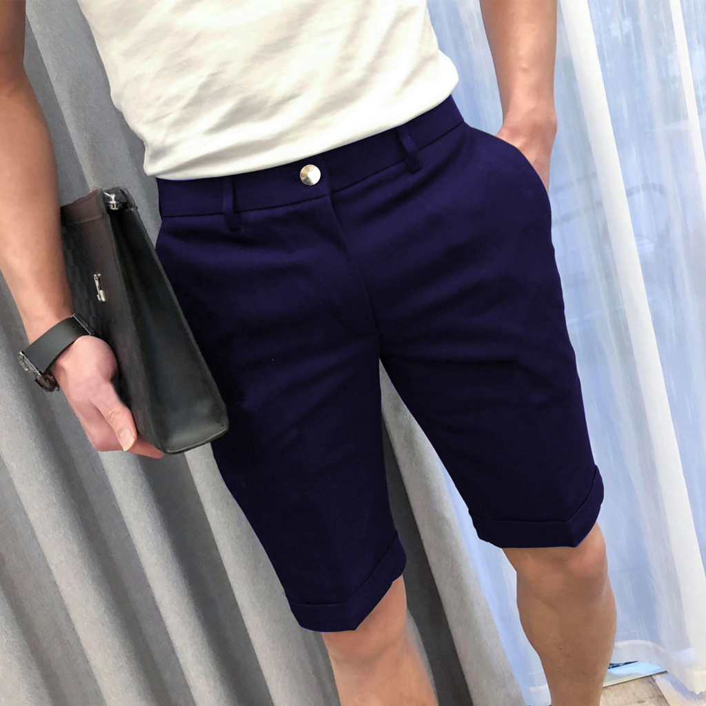 Quần short - Quần short kaki nam đẹp - Chất vải kaki dày dặn, rất mịn, có giãn tốt, mặc cực kỳ thoải mái, phù hợp đi chơi, đi du lịch