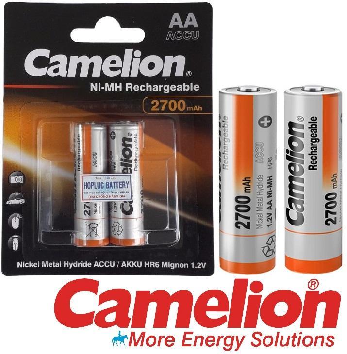 2 viên pin sạc AA Accu 2700mAh Ni-MH Rechargeable Battery 1.2V CAMELION