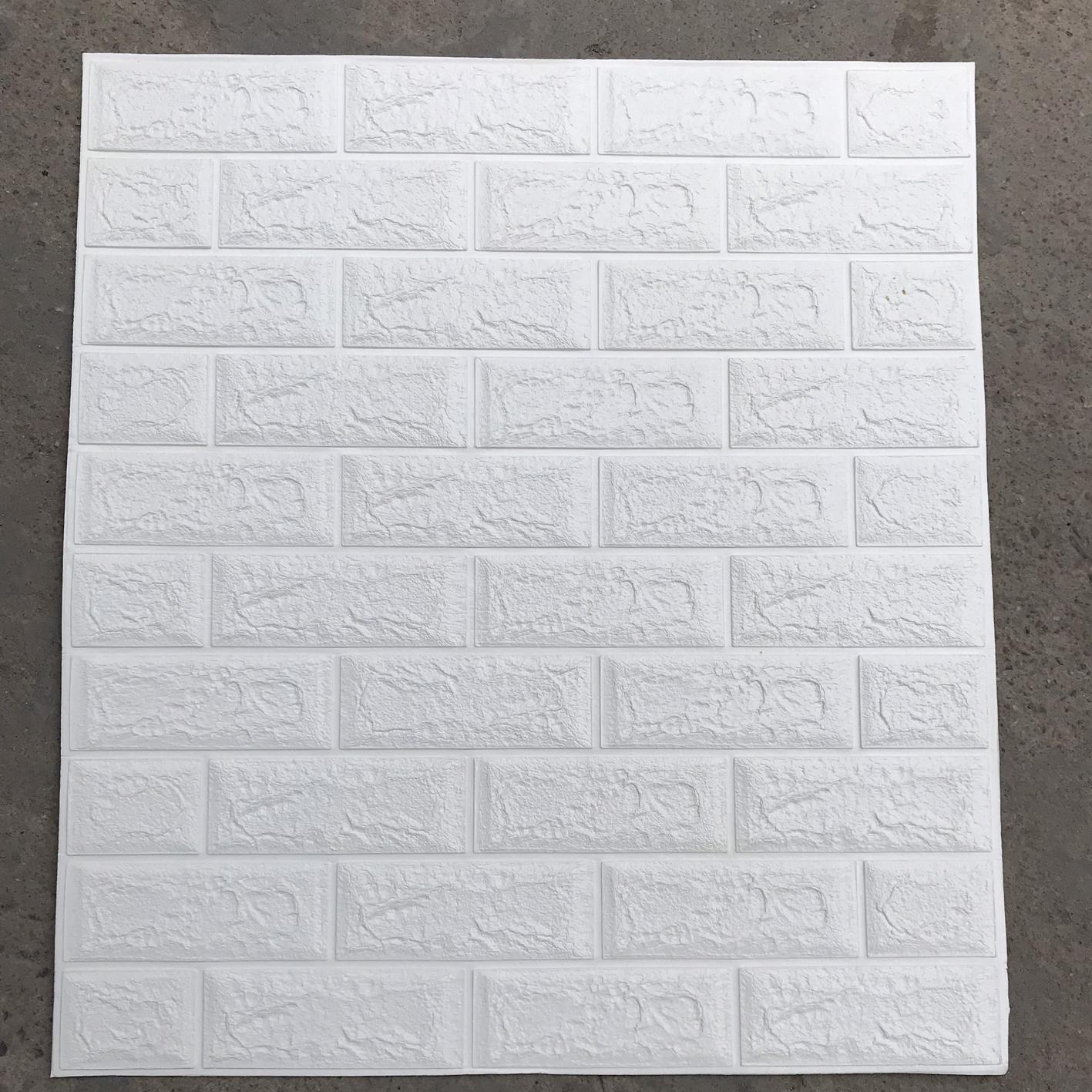 10 Tấm Xốp dán tường giả gạch 3D Bóc dán 70x77cm