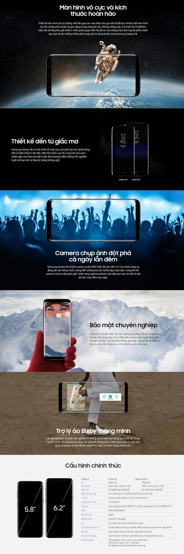 Samsung Galaxy S8 landingpage