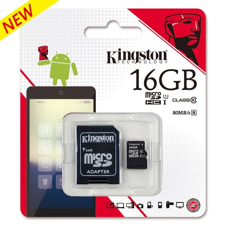 Kingston-Micro-SDHC-16GB-class-10-UHS-I-45MBs