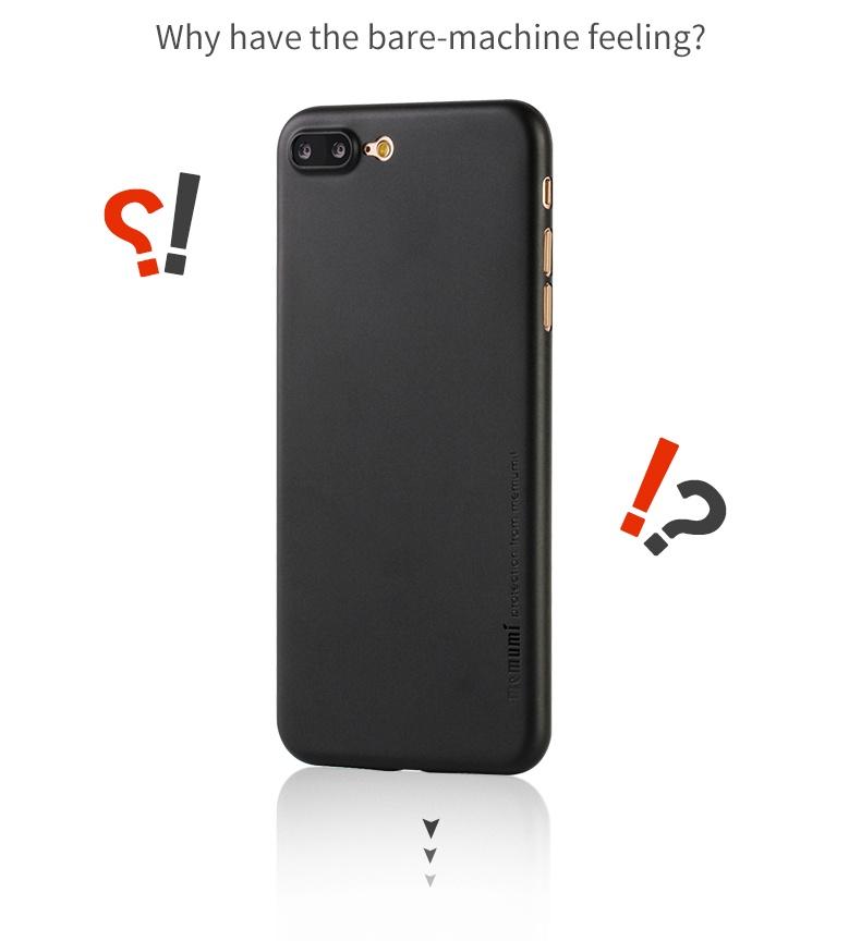 Ốp lưng nhám siêu mong 0.3mm cho iPhone 7 Plus chính hãng Memumi
