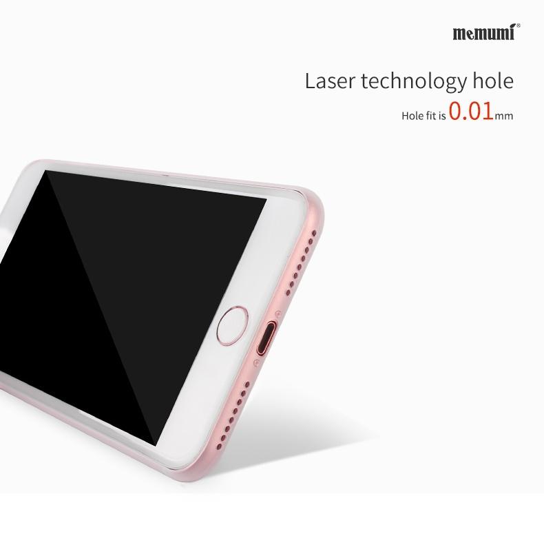 Ốp lưng nhám siêu mỏng 0.3mm cho iPhone 7 Plus chính hãng Memumi