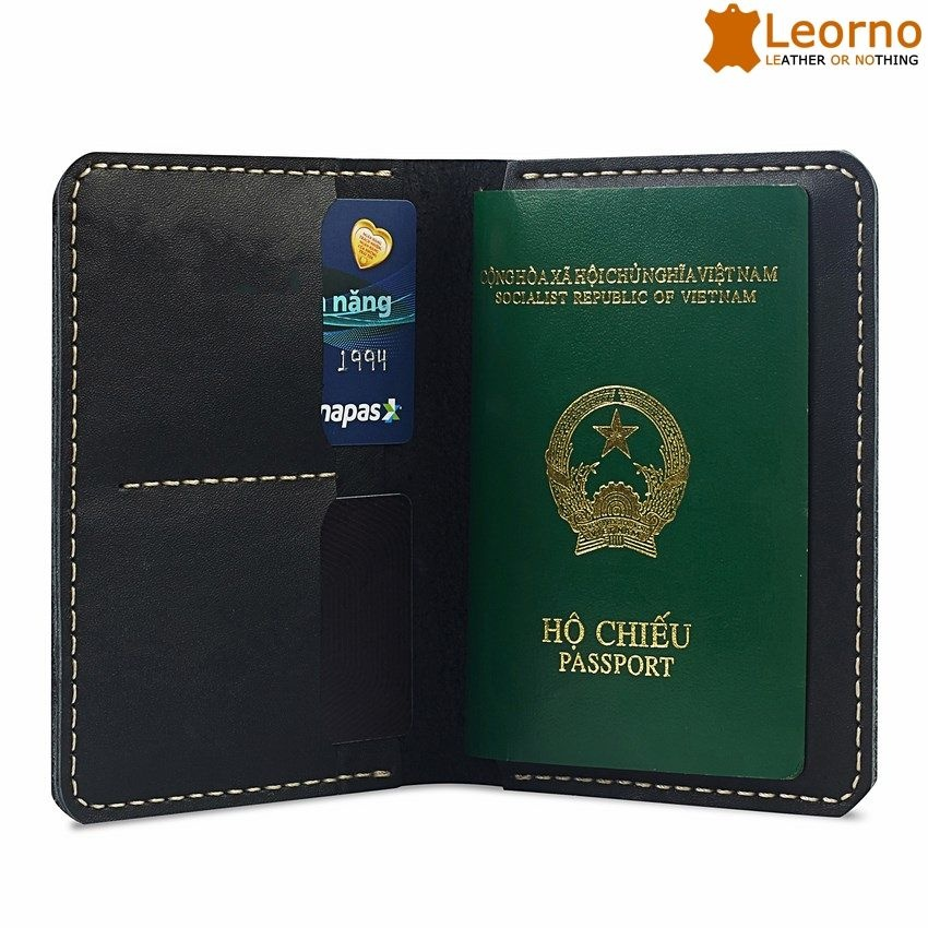 Ví da passport handmade