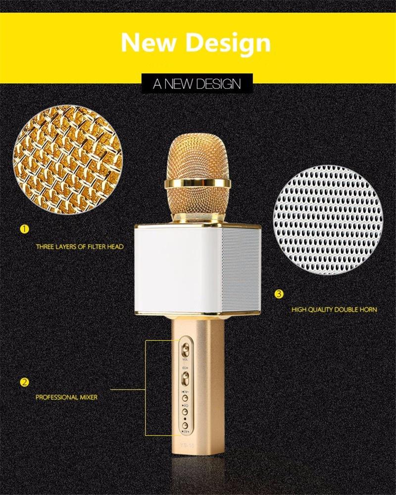 Micro karaoke kèm loa bluetooth YS10 2