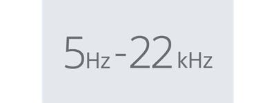 Dải tần số 5Hz-22kHz