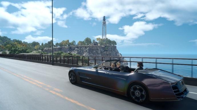 Như bạn có thể thấy, các con đường trong Final Fantasy XV cực kỳ đẹp mắt, ngắm thôi cũng đủ đã con mắt rồi.