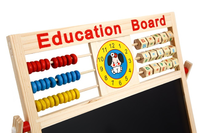 khuyen mai bang tu 2 mat education board va bo chu so cho be gia re