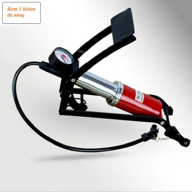Bơm hơi đạp chân ô tô xe máy loại 1pitton (Thiết kế chuẩn)=96.500 ₫