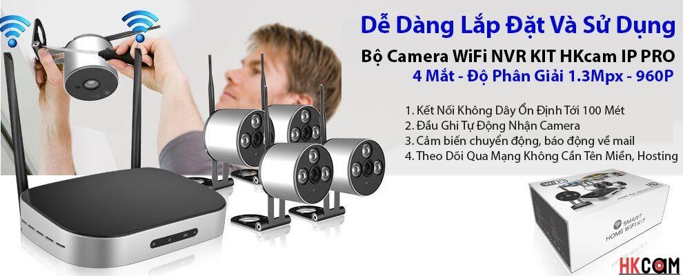 bộ camera wifi và đầu ghi