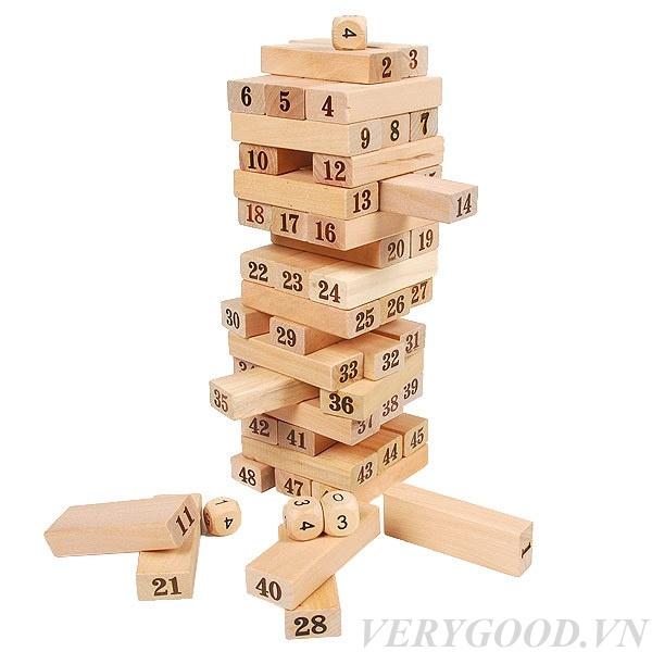 Đồ chơi rút gỗ 54 thanh