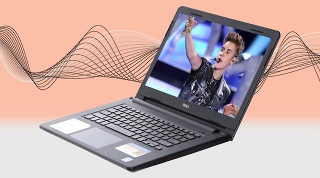 Dell Inspiron 3467 i5 7200U - Không gian giải trí âm thanh tốt hơn với công nghệ xử lý độc quyền MaxxAudio
