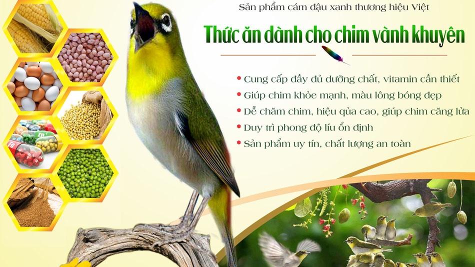 Cám chim vành khuyên Tú Gold