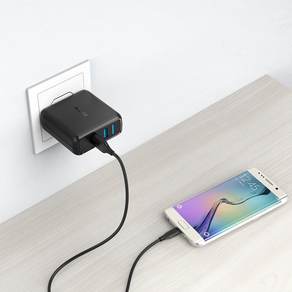 Sạc Anker PowerPort Speed 2 with Quick Charge 3.0 Black (Màu đen)