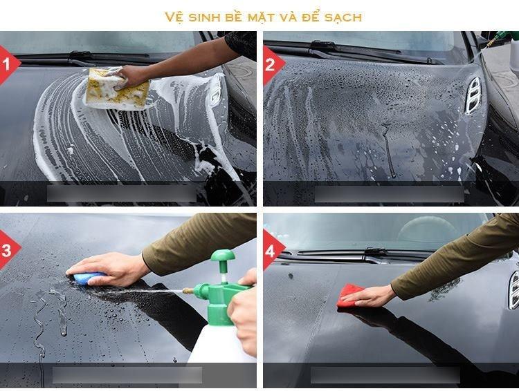 Xịt phủ bóng Nano Công nghệ Đức cho xe 9