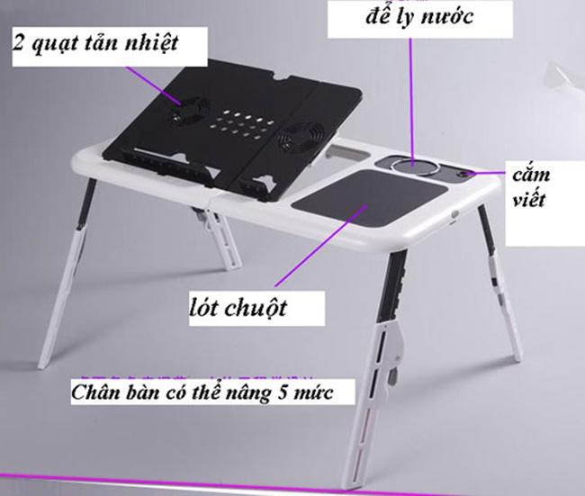 bàn để laptop đa chức năng e-table - hình 3
