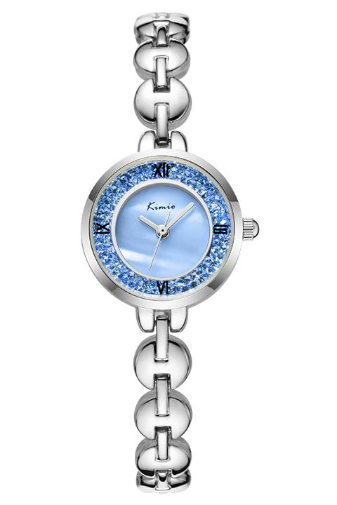 Đồng hồ thép không gỉ nữ KIMIO KI050