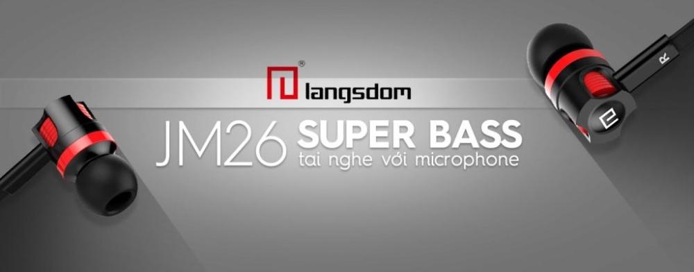 Tai nghe nhét tai Langsdom JM26 Super Bass