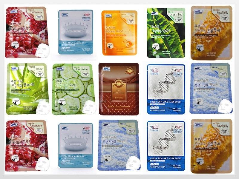 Bộ 15 gói mặt nạ dưỡng da 3W Clinic Fresh Mash Sheet