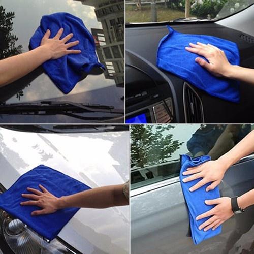 Khăn lau bụi siêu sạch trên ô tô cỡ to 60x35 cm 5