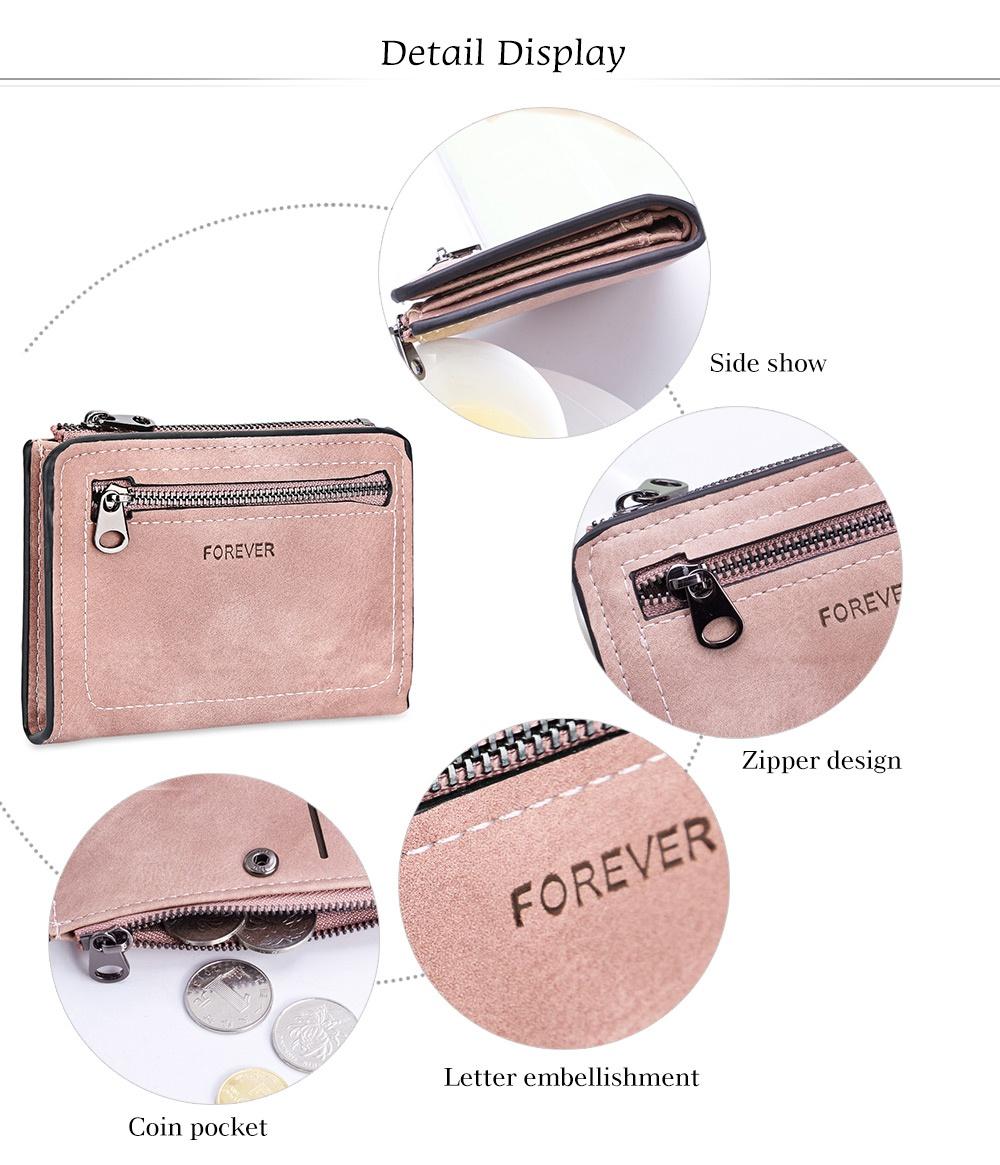 Fashion Tidy Line Letter Print Zipper Hasp Design Multicard Bit Wrist Wallet