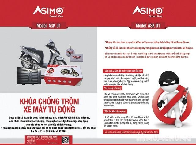 Khóa chống trộm xe máy tự động ASIMO - 6