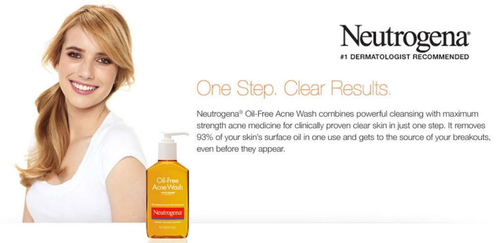 Image result for oil free acne wash neutrogena