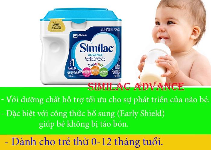Công dụng của sữa bột Similac Advance Formula là gì