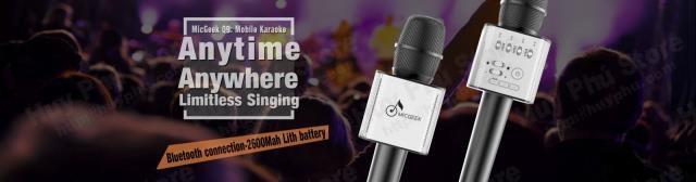 Mic Karaoke Kiêm Loa Bluetooth MicGeek Q9