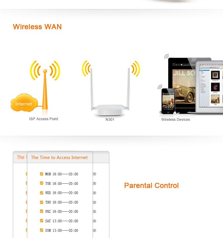 Thiết bị phát sóng Wifi 2 anten Tenda N301