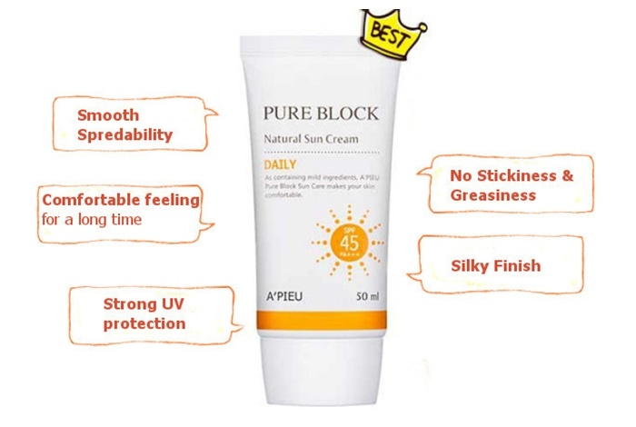 Image result for pure block natural sun cream daily