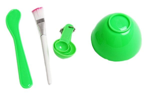 Bộ dụng cụ trộn mặt nạ đắp mặt Beauty Mask 4 in 1 - Xanh lá