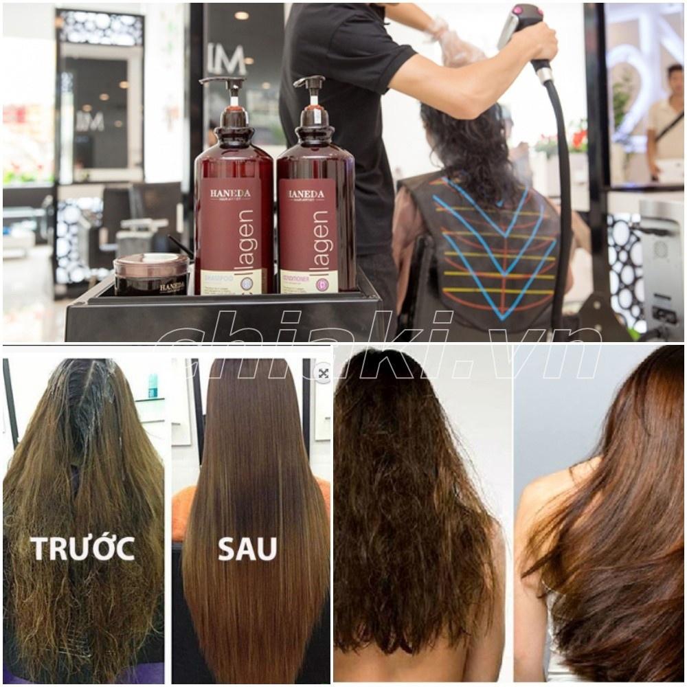 Dầu gội Collagen Haneda 500ml cho tóc hư tổn nặng