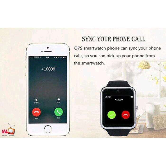 Đồng hồ thông minh smart watch Q7S đen 1