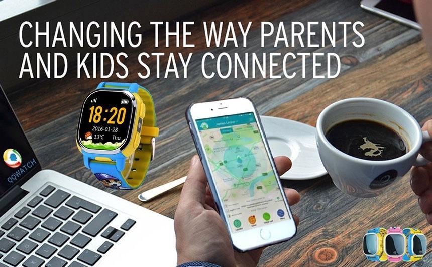Đồng hồ định vị GPS QQ Watch PQ708 cho trẻ em 1