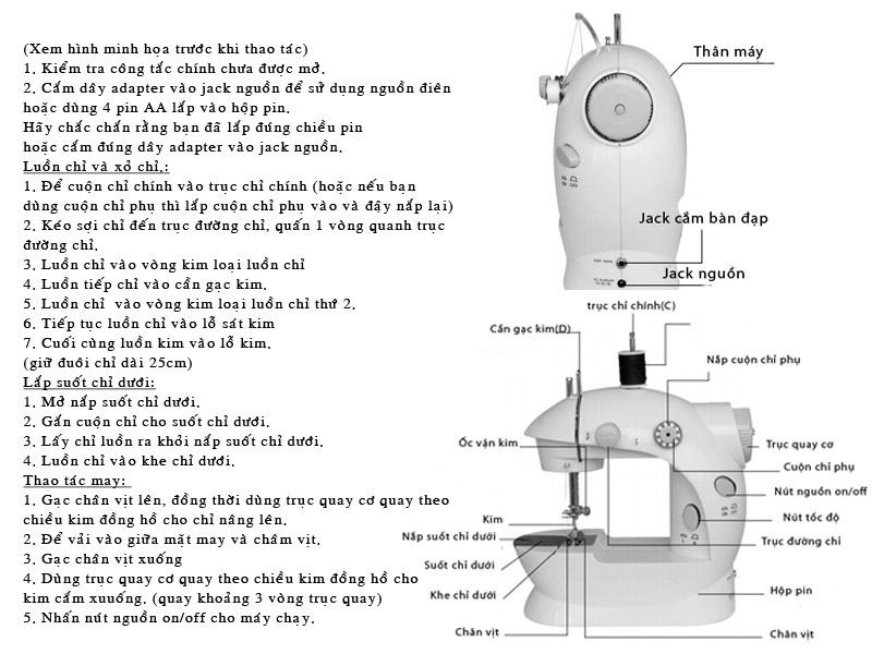 Máy may mini Sewing Machine SM 202A MD L 3