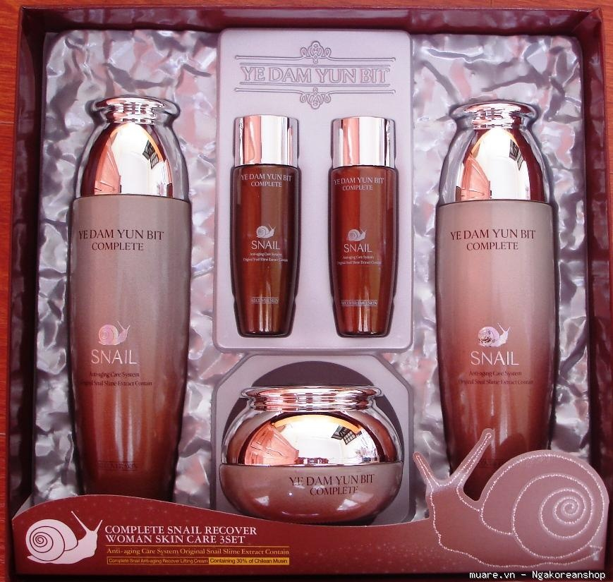 Image result for DA YE DAM YUN BIT complete snail recover woman skin care 3 SET