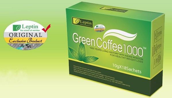 Trà Green Coffee của hãng Leptin