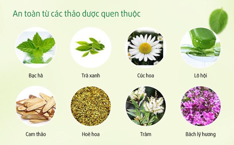 Thành phần thảo dược thiên nhiên cho hiệu quả khử mùi cao và an toàn