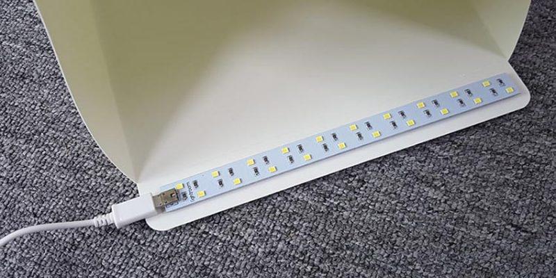 Hộp chụp sản phẩm Mini 22x24x24cm tích hợp đèn LED - PHUKIEN2T_Q00171