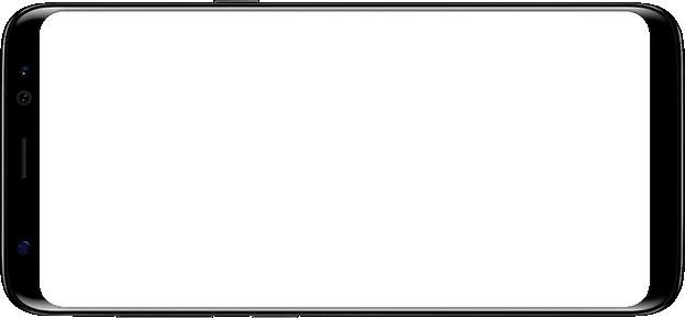 Galaxy S8 in landscape mode