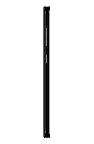 Left side view of Galaxy S8 màu Midnight Black